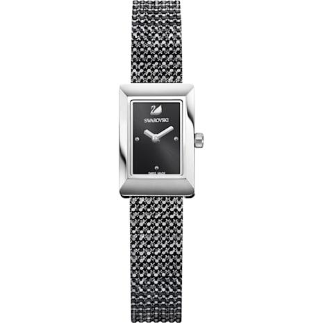 Montre Memories, Bracelet mailles, noir, acier inoxydable - Swarovski, 5209190