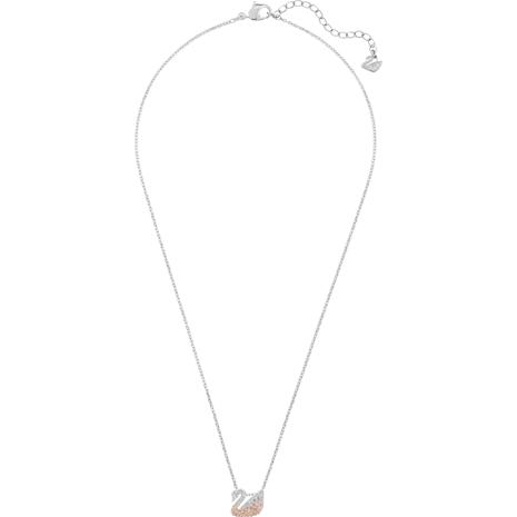 Swarovski Iconic Swan Pendant, Multi-colored, Rhodium plated - Swarovski, 5215038