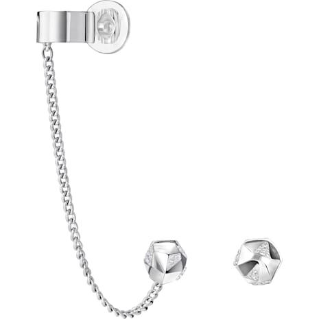 Jean Paul Gaultier for Atelier Swarovski, Reverse Hoop Pierced Earrings - Swarovski, 5226178