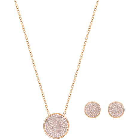 Fun Set, Pink, Rose-gold tone plated - Swarovski, 5227970