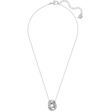 Pendentif Further, blanc, Métal rhodié - Swarovski, 5240524