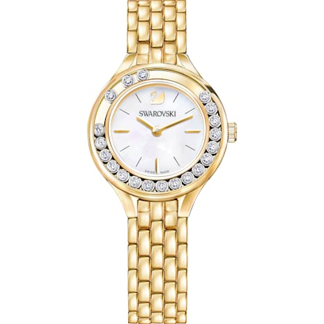 Montre Lovely Crystals, Bracelet en métal, PVD doré - Swarovski, 5242895