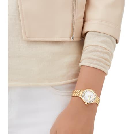 Lovely Crystals Watch, Metal bracelet, Gold-tone PVD - Swarovski, 5242895