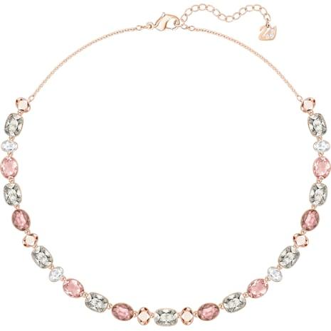Girlfriend 項鏈, 多色設計, 鍍玫瑰金色調 - Swarovski, 5258472
