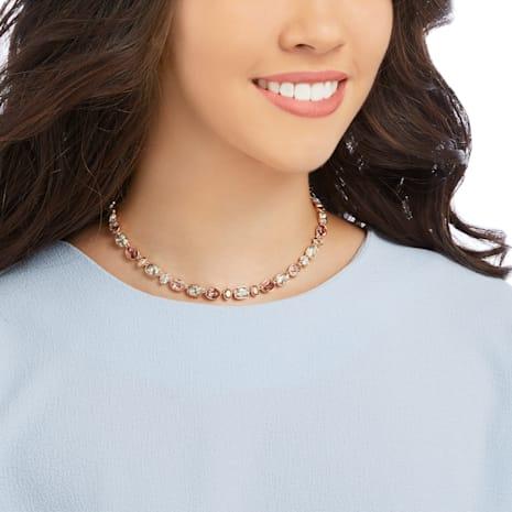 Girlfriend Necklace, Multi-colored, Rose-gold tone plated - Swarovski, 5258472