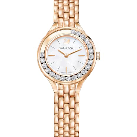 Lovely Crystals Watch, Metal bracelet, Rose-gold tone PVD - Swarovski, 5261496