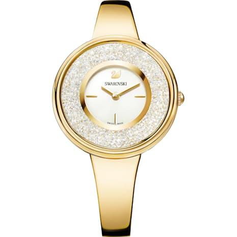 Crystalline Pure Uhr, Metallarmband, weiss, Vergoldetes PVD-Finish - Swarovski, 5269253