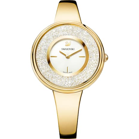 Crystalline Pure Watch, Metal bracelet, White, Gold-tone PVD - Swarovski, 5269253