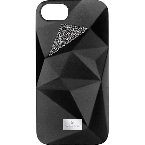 Coque rigide pour smartphone avec cadre amortisseur Facets, iPhone® 7, Noir - Swarovski, 5269290