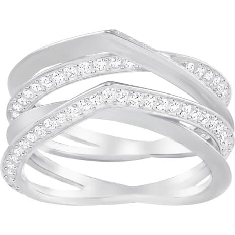Genius Ring, White, Rhodium Plating - Swarovski, 5269568