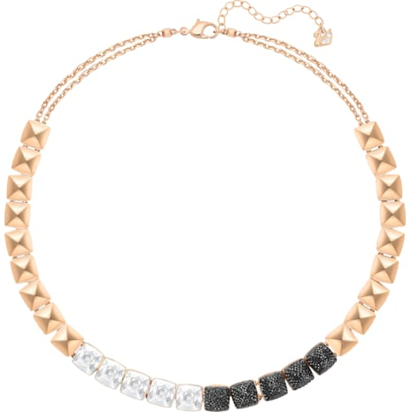 Glance Necklace, Multi-colored, Rose-gold tone plated - Swarovski, 5272069