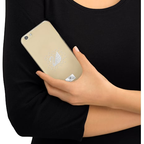 Swan Silvery Smartphone Case with Bumper, iPhone® SE - Swarovski, 5272714
