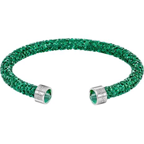 Crystaldust Cuff, Green, Stainless steel - Swarovski, 5273637