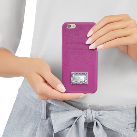 Coque rigide pour smartphone avec cadre amortisseur Versatile, iPhone® 7, Rose - Swarovski, 5278396