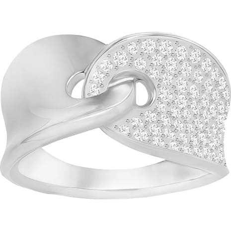 Guardian Ring, White, Rhodium Plating - Swarovski, 5279057