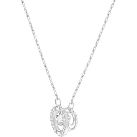 Swarovski Sparkling Dance Round Necklace, White, Rhodium plated - Swarovski, 5286137