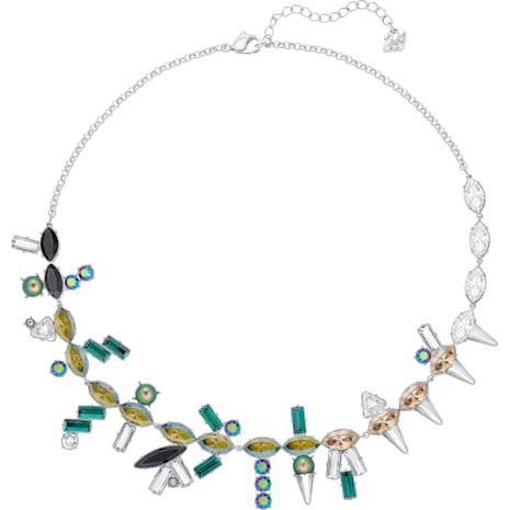 Helen Necklace, Multi-coloured, Palladium plating - Swarovski, 5289431