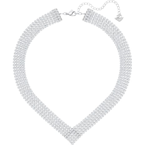 Fit Necklace, White, Palladium plated - Swarovski, 5289715
