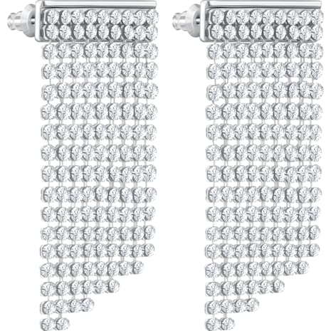 Fit Pierced Earrings, White, Palladium plated - Swarovski, 5289716