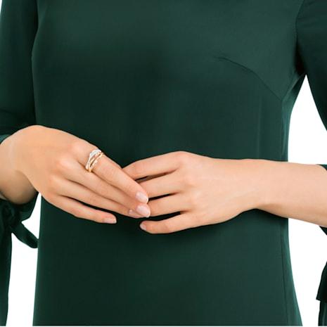 Hilly Ring, White, Rose-gold tone plated - Swarovski, 5290198