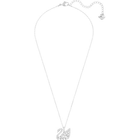 Swan Lake Pendant, White, Rhodium plated - Swarovski, 5296469