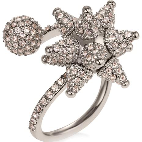 Kalix Spiral Ring, palladium plating - Swarovski, 5298575