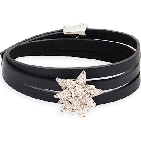 Kalix Wrap Soft Bracelet, palladium plating - Swarovski, 5298586