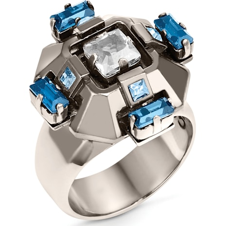 Cristaux Deco Ring, ruthenium plating - Swarovski, 5298739