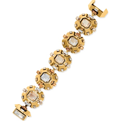 Cristaux Deco Bracelet, ruthenium plating - Swarovski, 5298746