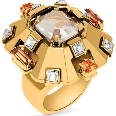 Cristaux Deco Large Ring, Gold-tone plated - Swarovski, 5298749