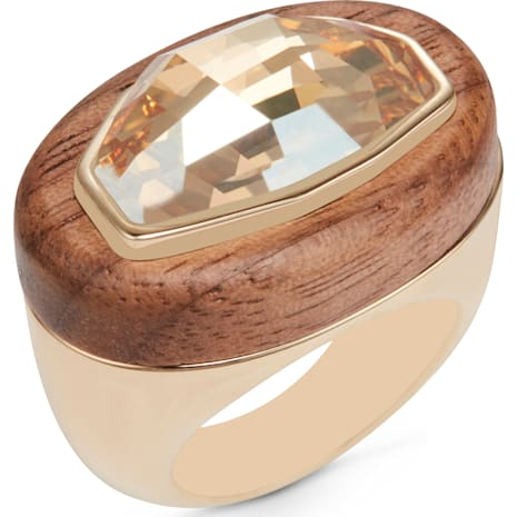 Wood Crystallized Cocktail Ring, gold plating - Swarovski, 5298912