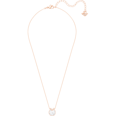 Bella V Pendant, White, Rose-gold tone plated - Swarovski, 5299316