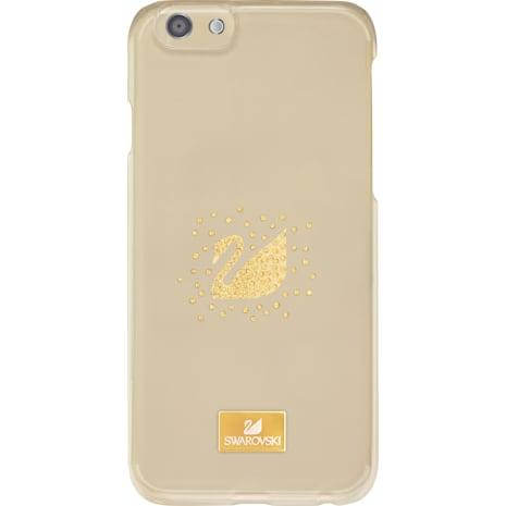 Swan Golden Smartphone Case with Bumper, iPhone® SE - Swarovski, 5300265