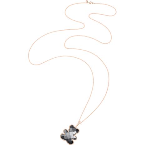 Teddy Pendant, Black, Rose-gold tone plated - Swarovski, 5300446