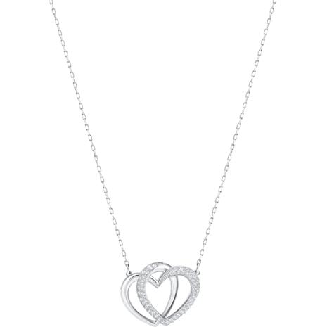 Dear Necklace, White, Rhodium plated - Swarovski, 5345475