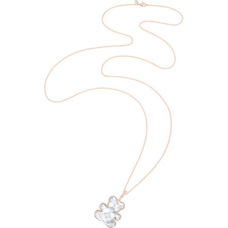 Teddy Pendant, White, Rose-gold tone plated - Swarovski, 5345685