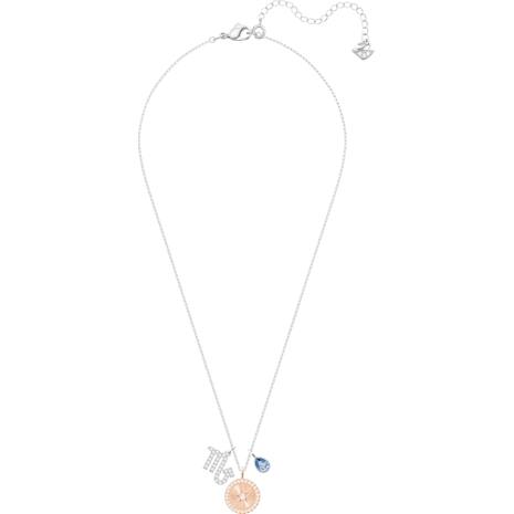 Pendentif Zodiac, Scorpion, bleu, Métal rhodié - Swarovski, 5349222