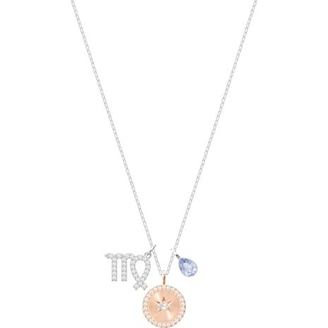 Colgante Zodiac, Virgo, lila, Baño de Rodio - Swarovski, 5349224