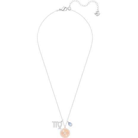Pendentif Zodiac, Vierge, mauve, Métal rhodié - Swarovski, 5349224