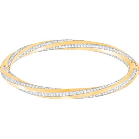 Bracelet-jonc Hilt, blanc, métal doré - Swarovski, 5350170