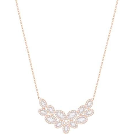 Baron Necklace, White, Rose-gold tone plated - Swarovski, 5350616