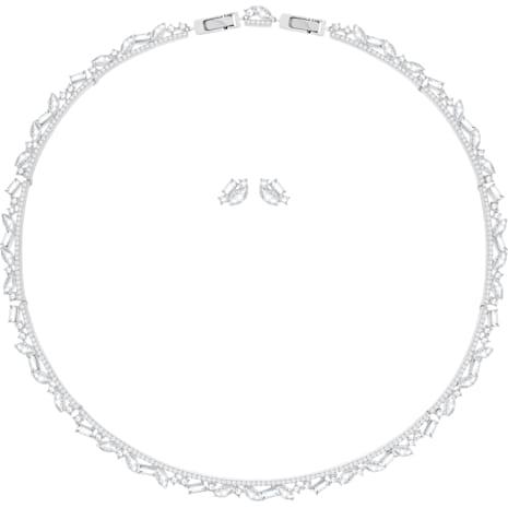 Henrietta 套裝, 大碼, 白色, 鍍白金色 - Swarovski, 5351312