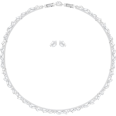 Henrietta Set, Large, White, Rhodium plating - Swarovski, 5351312