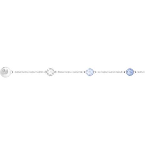Swarovski Remix Collection Timeless Strand, bleu, Métal rhodié - Swarovski, 5354791