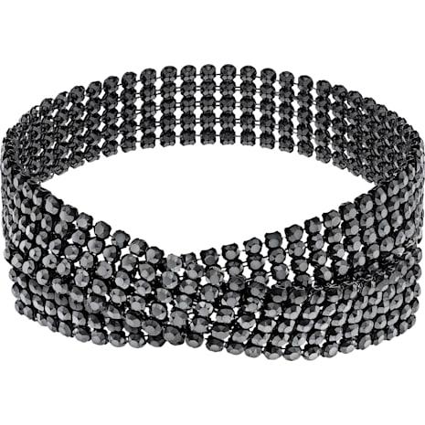 Collana Fit, nero, Placcatura rutenio - Swarovski, 5355185