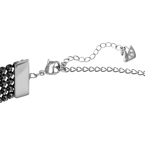 Fit Halskette, schwarz, Rutheniert - Swarovski, 5355185