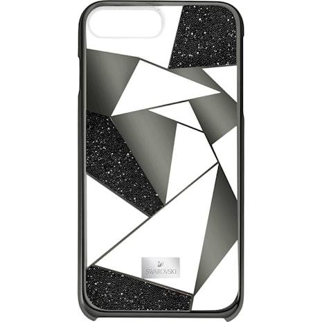 Custodia smartphone con bordi protettivi Heroism, iPhone® 8 Plus, nero - Swarovski, 5356651