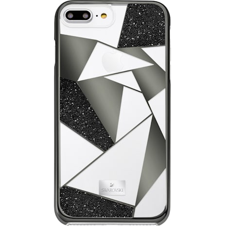 Heroism Smartphone Case with Bumper, iPhone® 8 Plus, Black - Swarovski, 5356651