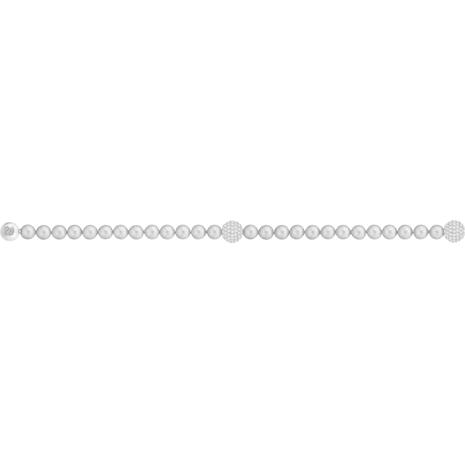 Swarovski Remix Collection Crystal Pearl Strand, Gray, Rhodium plated - Swarovski, 5364103
