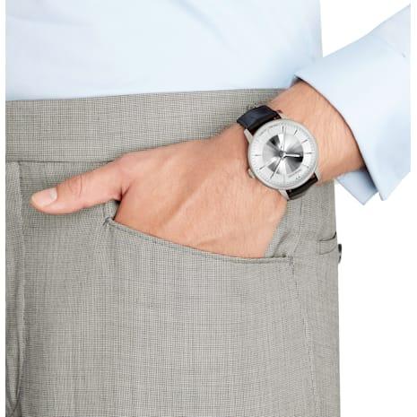 Reloj automático Atlantis para hombre edición limitada, Correa de piel, blanco, acero inoxidable - Swarovski, 5364206